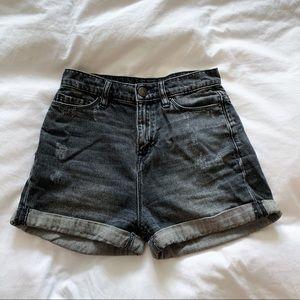 BDG Black High Rise Mom Shorts